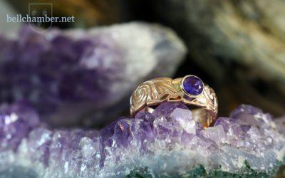 Purple Sapphire Celtic Ring