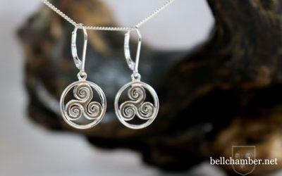 Spiral Triskele Earrings