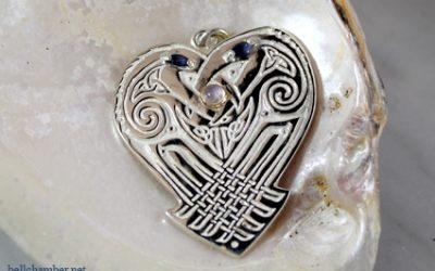 Raven's Heart Triskele Pendant