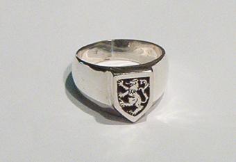 Lion Rampant Signet Ring