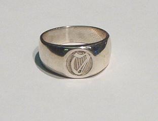 Irish Harp Signet Ring