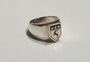 Buck Crest Signet Ring