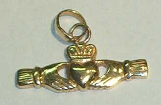 Claddaugh Charm Pendant