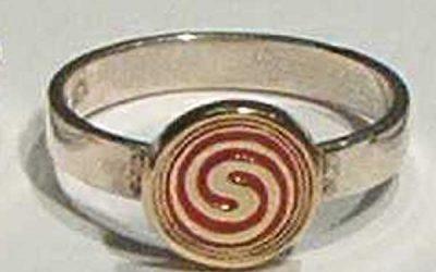 Spiral Charm Signet Rings