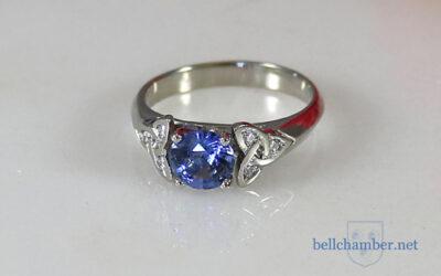 Blue Sapphire Triskele Ring