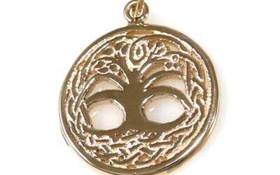 Celtic Tree Of Life Pendant, 14K Gold