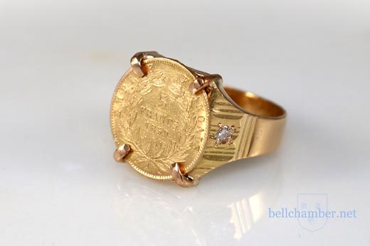 22K 5 Francs Ring 1859