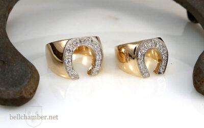 Lucky Horseshoe Rings with Diamonds