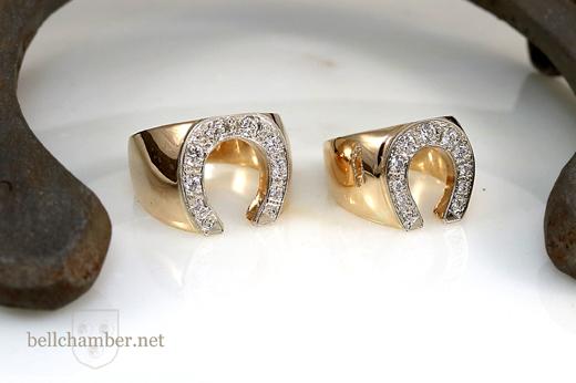 Diamond Horseshoe rings