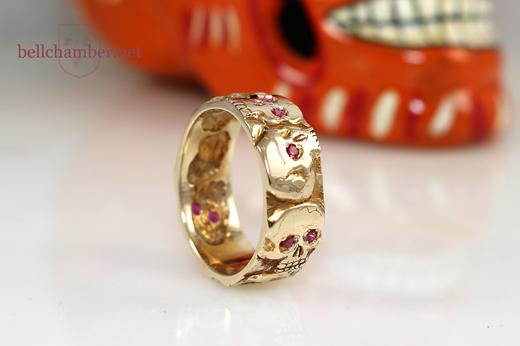 Mexican inspired Skull ring