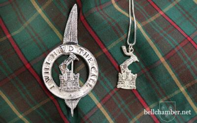 Custom Scottish Clan Crest and Kilt Brooch Pin